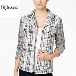 Style & Co. Petite Plaid Jacquard Jacket